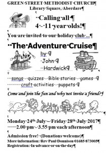 Holiday club 2017 publicity